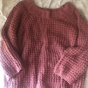 Mauve loose knit Chenille sweater Express small